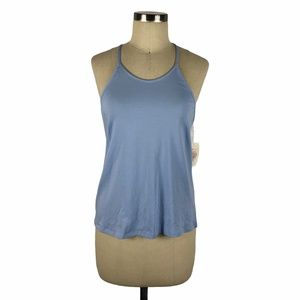 IN BLOOM Bright Blue Lace Insert Tank Top Pajamas